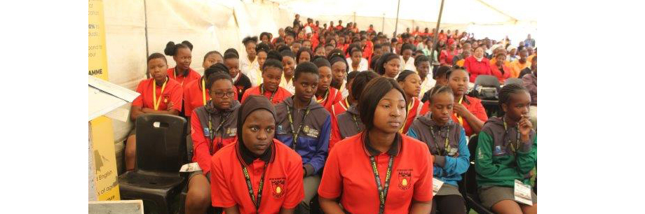 Learners of Motjedi High School listening to the MEC during the Campaign